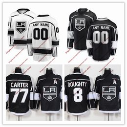 Custom 2018 LA Los Angeles Kings ice hockey Jerseys men s women s youth  black white Hockey stitched jerseys any number any name embroidery 5aa20fc45