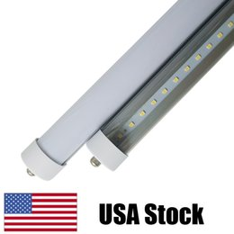 "Wholesale led tube fluorescent light bulb - 8ft led tube lights fa8 8 feet Ft Single Pin 36W 45W T8 LED Fluorescent Tubes 96"" bulbs Lamps 2400MM tubes cooler door led lights"