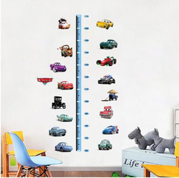 Wholesale Pictures Kids Bedrooms - Free shipping Cute height measure wall stickers for kids room removable cartoon growth chart wall decals children bedroom wall pictures