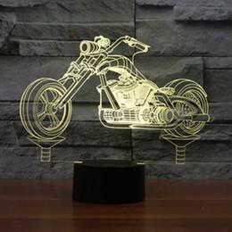 farbwechselladegeräte Rabatt 3D Design Motorrad Nachtlicht Dekoration 7 Farbwechsel Atmosphäre Lampe mit USB Ladegerät LED Neuheit Lichter Großhandel Dropshipping
