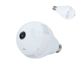 Wholesale Wireless Fishing - Unique Fashion Array Lamp 960P Panoramic 360 HD night vision Wide Angle Fish-eye Lens wireless WIFI monitor security ip camera
