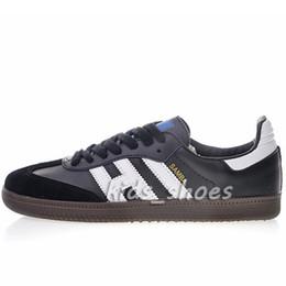 Новая Роскошная Мода Samba Кожа Мужская Женская Черный Белый Синий Красный Свет Дизайнер Дышать Повседневная Обувь Размер Eur36-45 от