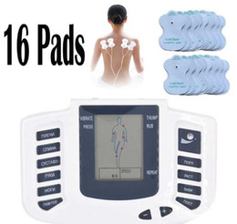 Wholesale massager electrical stimulator - Electrical Stimulator Full Body Relax Muscle Therapy Massager Massage Pulse tens Acupuncture Health Care Slimming Machine 16 Pads