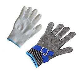 Guanti di taglio in acciaio inossidabile online-Livello 5 contro i guanti di ispezione per la macellazione del filo in acciaio inossidabile a prova di punzonamento