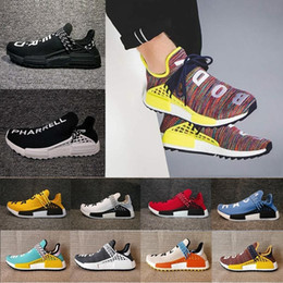 Wholesale friends green - Friends and Family NMD Human Race Factory Real Boost NMD Runner Pharrell Williams Hu NMD_TR Running Shoes Men Women Shoes Freeshipping Size