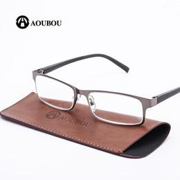 Argentina AOUBOU Marca High-end Business Reading Glasses Hombres Acero Inoxidable PD62 Gafas Ochki 1.75 + 3.25 Degree Gafas De Lectura AB002 Suministro