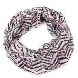 Wholesale chevron infinity - Staiwalks Fashion New Design Bohemian Style Women Loop Ring Infinity Scarf With Zig Zag Chevron Print All-Match Free Shipping