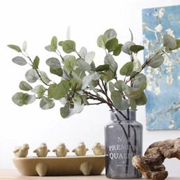 Wholesale Fake Flowers Arrangements - High End Simulation Leaf Vivid Hairy Pulp Money Leaves For Home Flower Arrangement Fake Green Plants Popular 5 53jm B
