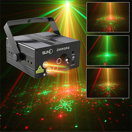 Wholesale uk patterns - 5 Lens RGB 80 Pattern Mini Laser LED Light Stage Lighting Effect Colorful Projector Disco DJ Home Xmas Music Festival Party Decoration