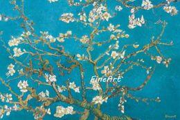 2019 frutas arte abstracta pinturas a óleo Arte da pintura handmade vincent van gogh pinturas famosas reprodução amêndoa flor pintura a óleo pictures sala de estar decoração da lona