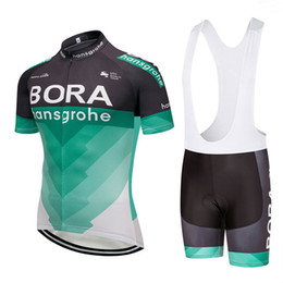 Wholesale free bibs - UCI 2018 Bora Cycling Clothing Bike jersey Ropa Mens Bicycling jersey short sleeves pro Cycling Jerseys bibs shorts set