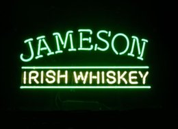 2019 ирландские таблички Бизнес Custom NEON SIGN board Для Jameson Irish Blended Whiskey Liquor Alcohol Tube BEER BAR PUB Клубный магазин Световые знаки 16 * 11
