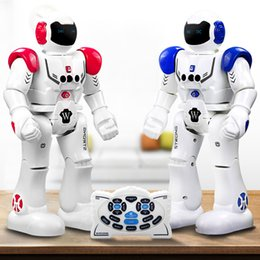 Wholesale Smart Toys Wholesale - RC Intelligent Robot Remote Control Smart Programmable Robots Walk Slide Dance Music Talk Demostration Interactive Inductive Robot Toys