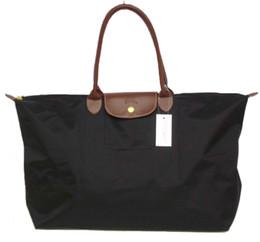 sacchetto di shopping pieghevole Sconti Folding shopping bag borse Francia Marca nylon moda Donne Travel Bag Francia marchio singolo cerniera Croce Donna Poliestere modello clutch