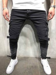 pantalones de hombre de moda Rebajas Skinny Fit Destroyed Blue Elastic Trendy Street Style Jeans Men's Classical Distressed Hip Hop personalidad pantalones vaqueros masculinos