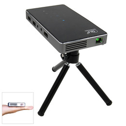 Wholesale Pocket Projector Battery - P8 Smart Mini Portable Pocket Projector Bluetooth Handheld Smartphone 80Lum Android 4.4 2.4G+5.8G Dual Wifi with 4500mAh Battery
