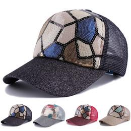 2018 new Snapback Sun Block Ponytail Unisex Glitter baseball cap women men  Hip-hop Students 1PC Korean sequins mesh cap Summer e66be6ae15b7