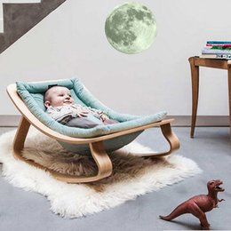 Wholesale vintage bathroom poster - Vintage Moon Glow In The Dark Moonlight Luminous Art Mural Wall Sticker For Kids Room Adesivo De Parede Home Decor Poster