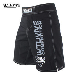 Wtuvive Black Mens Mma Boxing Trunks Muay Thai Fight Shorts Sanda Fight Wear Cheap Mixed Martial Arts Kickboxing Tiger Muay Thai Coupon