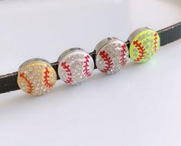 Бейсбольные горки онлайн-10шт 8 мм полный горный хрусталь бейсбол слайд подвески подвески DIY аксессуары подходят 8 мм ремни, браслеты, ожерелья