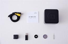 2019 registro de vídeo de segurança A7 Mini Câmera HD 1080 P Gravador De Vídeo Sem Fio de Carregamento durante a Gravação de Visão Noturna Infravermelha Detecção de Movimento Cam Home Office segurança registro de vídeo de segurança barato