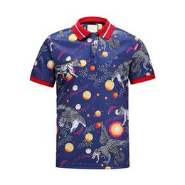 Wholesale Polo T Shirt Men V Neck - 2018 polo shirt fashion Short Sleeved animal embroidery polo t shirts men tee design printing poloshirts clothes Medusa tops