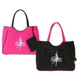 Sacchetto di messaggero nero della ragazza online-Fashion Black Hot Pink Messenger Tote Personalized Makeup Grande borsa da ballo per donna