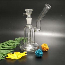 bomba de fumo Desconto Hot nova bomba de difusão bubbler bongo de vidro de vidro da tubulação de água de fumar bongos com um perc 14mm conjunta feminina 8 polegadas de altura (GB-370)