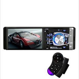 Kit bluetooth per il volante online-Hot 4.1inch 1Din HD 800 * 480 Auto MP5 Player Radio Audio Bluetooth FM / AUX / USB / TF Supporto di controllo del volante Telecamera di retrovisione