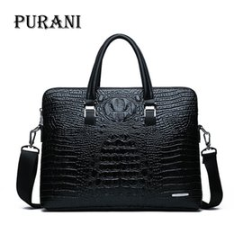 крокодил сумка мужчины Скидка Men Briefcases Leather Crocodile Pattern Messenger Shoulder Bag Handbags Male Business  Briefcases Casual Men Laptop Bag