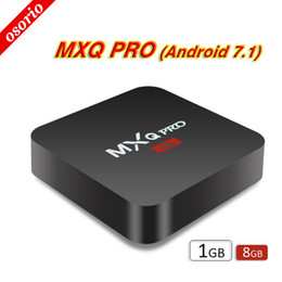 Wholesale Google Android Tv Top Box - Factory MXQ Pro 4K Android 7.1 TV Box RK3229 Set Top Box 4K Ultra HD Quad-core Streaming Media Player Full Loaded Support WiFi HDMI2.0