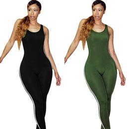 Wholesale Jumpsuits Longo - Hot Sale Sleeveless Rompers Women Jumpsuit Patchwork Skinny Sexy Jumpsuit Casual Vestidos Longo LS6081