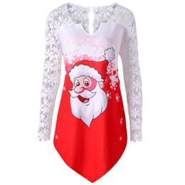 8669d2eda7051 New Womens Christmas Long Sleeve Letter t shirts Print Pullover off should shirts  harajuku poleras de mujer moda top  TW
