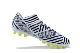 Wholesale Cheap Soccer Shoes Messi - 2018 Soccer Cleats Purecontrol Nemeziz Messi 17.3 FG Botas De Futbol Mens Soccer Shoes Tango Cheap Football Boots Nemeziz 17 Orange
