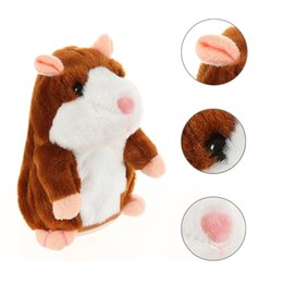 Wholesale Battery Operated Animal Toys - Mimicry Talking Hamster Repeats What You Say The Cute Plush Animal Toy Electronic Hamster Mouse Children Learn To Speak toys