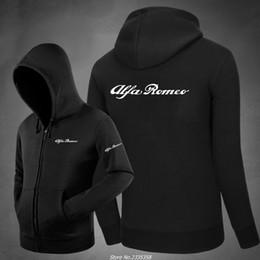 Wholesale Alfa Romeo White - for man Women Hoodies zipper alfa romeo Sweatshirts Hoodies outwear Hip-Hop coat Clothes 7 colours jackets