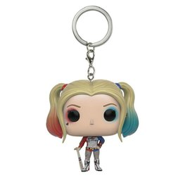zinc model 2018 - Suicide Squad Keychain Action Figure  Quinn key chain Suicide Squad Toy Model Car Key  keyring Gift 2018