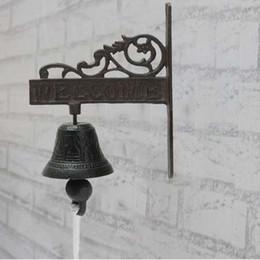 porte in ghisa Sconti Porta campanaria per porta in ferro battuto in metallo stile vintage nordico marrone metallizzato