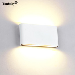 Wholesale Sconces Up Down - Tanbaby 6W 12W LED COB Wall light Up and Down wall Lighting Waterproof Sconce Lamp for indoor outdoor decoration