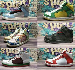 Wholesale white hi tops shoes - 2018 New Arrival Dunks Mid Pro HI QS Hi P Premium High Top Running Shoes Men Women Sport Sneakers