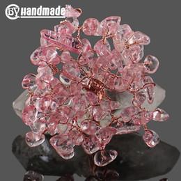 14mm weißes kristallarmband Rabatt Natürlicher Kristall von Hand, der kreative Eigenschaften der Baumeinrichtungsartikel wickelt