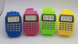 Canada Usine prix direct étudiant calculatrice silicone étanche montre électronique Enfant de Bande Dessinée De Mode Multifonction Étudiant Comptant Outils Offre