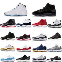 cea576a40 Saltos de basquete jumpman 11 baixo preto stingray ginásio vermelho chicago  meia-noite espaço da marinha marmelada tênis para mulheres dos homens  barato ...