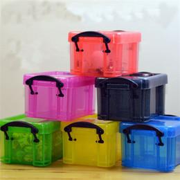 Contenitore per i bambini online-Super Mini Kawaii Storage Box Trasparente Carino Kids Small Size Giocattoli Creativi 8 * 6.5 * 5cm Gioielli Orecchini Anello Organizzazione Container 1 5rh Z