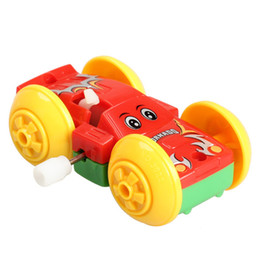 2019 novo brinquedo tartaruga natação Somersault Bounce Cars Frente e Verso Padrão Clockwork Brinquedos Engraçados Presente para Crianças Dos Miúdos Toy Cars
