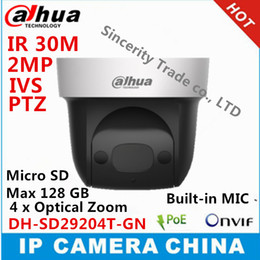 Wholesale Mini Ptz Dome Ip Camera - Dahua DH-SD29204T-GN 2Mp Network Mini IP Speed Dome 4x optical zoom PTZ ip camera built-in MIC SD29204T-GN with logo
