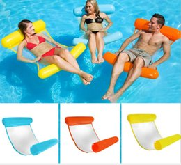 Wholesale folding sofas - Hot style with mesh hammock, folding double back and back float, water recreation deck chair floating bed sofa.
