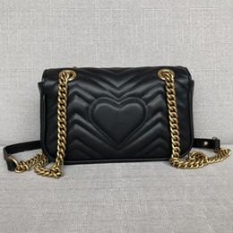 2beb1f9bd3560 2019 schwarze gesteppte tasche goldkette Hohe Qualität Gold Kette Flap Bag  Mode Frauen gesteppte Plaid Schultertasche