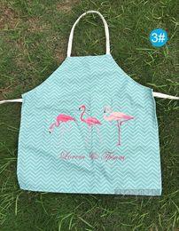 Argentina Creative Flamingo delantal para adultos de algodón y lino tela antifouling aceite cocina delantal sin mangas por mayor impresión digital Suministro