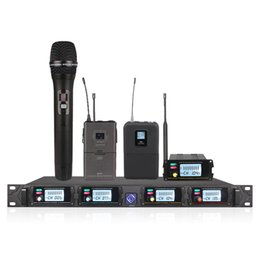 Wholesale wireless microphone transmitter system - Wireless Microphone System UHF Channel 8000GT Professional Mobile Microphone Transmitter Accessories